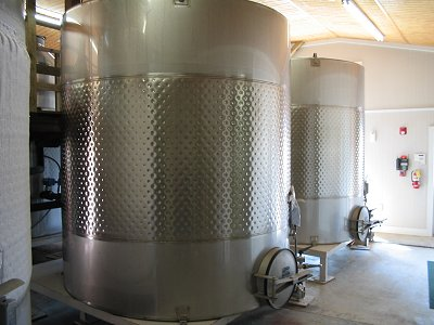 Silver Coast Winery - Wine Fermenting Tanks